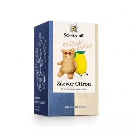 Zázvor - citrón, porciovaný čaj BIO 32 g