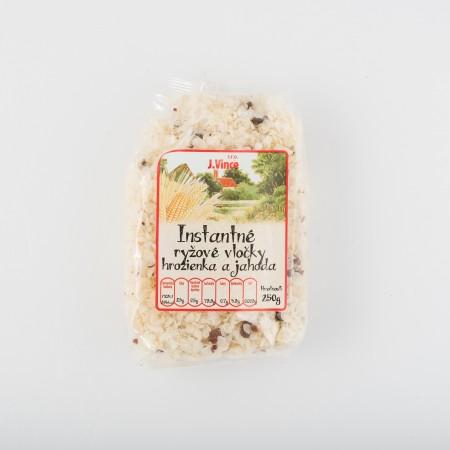 Instantné ryžové vločky s hrozienkami a jahodami 250g