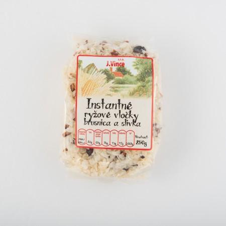 Instantné ryžové vločky s brusnicami a slivkami 250g