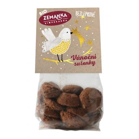 Bezlepkové vianočné bio sušienky s vlašskými orechmi 100g