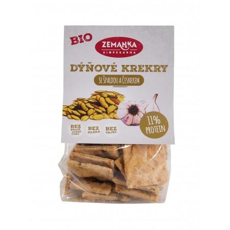 Špaldové krekry s tekvicovými semienkami a cesnakom BIO 100g
