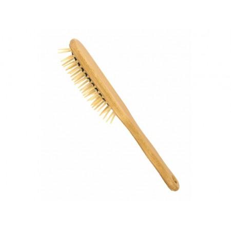 Förster's vlasová kefa  so špicatými drevenými ostňami - oválna