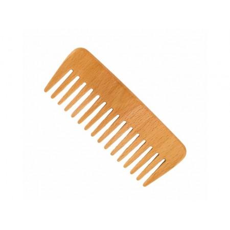 Förster's vlasový hrebeň z FSC certif. bukového dreva - s riedkymi zubami - širo
