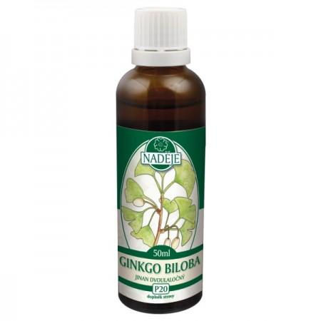 Ginkgo dvojlaločné 50ml, P20 - tinktúra z púčikov rastlín