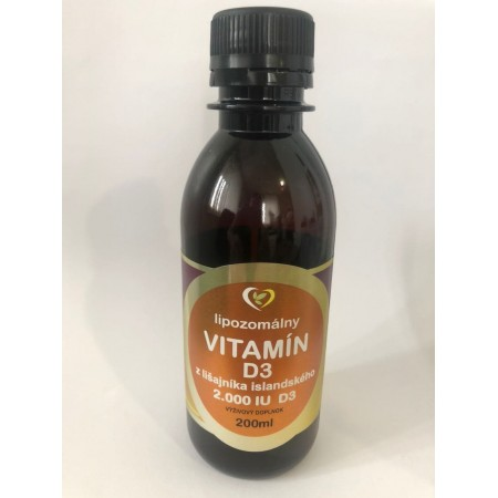 Lipozomálny vitamín D3 z lišajníka 200ml