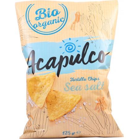 Bio tortilla chipsy morská soľ 125 g