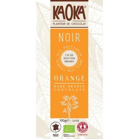 Bio horká čokoláda pomarančová KAOKA 100 g
