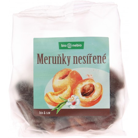 Bio sušené marhule nesírené bio * nebio 150 g