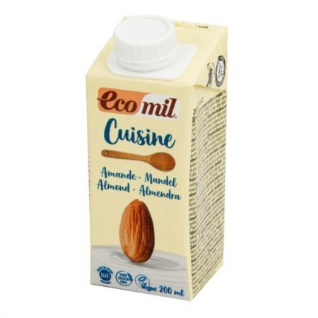 Kulinárska špecialita z mandlí bez cukru bio EcoMil 200 ml