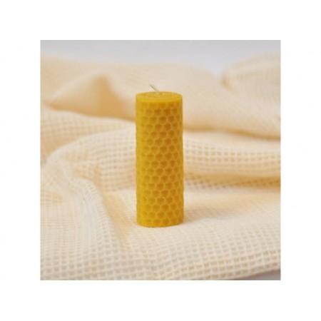 Vosková sviečka točená žltá 8x3cm