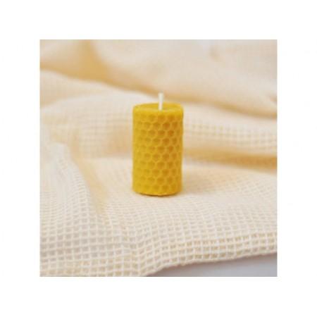 Vosková sviečka točená žltá 5x3cm