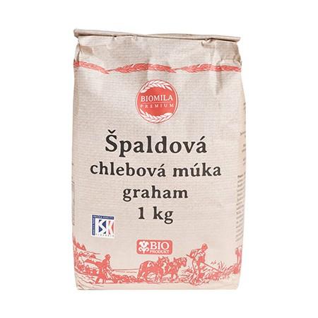 BIOMILA Špaldová chlebová múka graham BIO 1kg