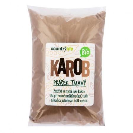 Karobový prášok tmavý 500 g BIO COUNTRY LIFE