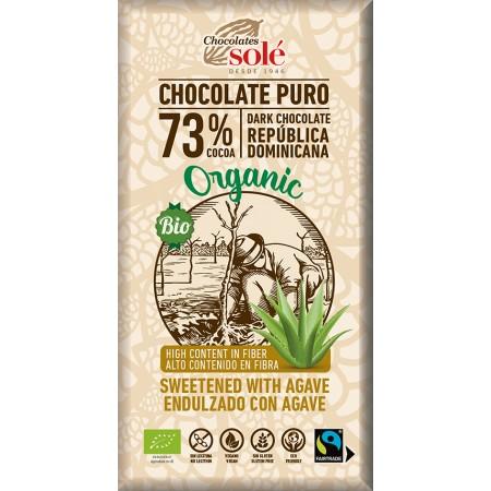 Bio horká čokoláda so sirupom z agáve SOLÉ 100 g
