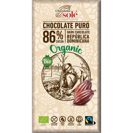 Bio horká čokoláda 86% SOLÉ 100 g