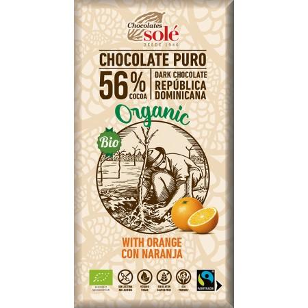 Bio horká čokoláda pomarančová SOLÉ 100 g