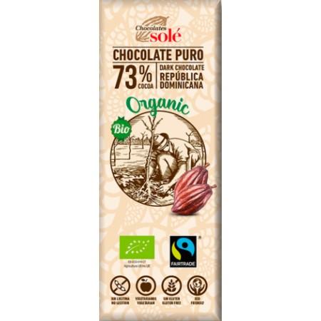 Bio horká čokoláda 73% SOLÉ 25 g