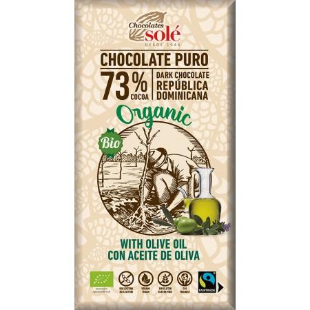 Bio horká čokoláda s olivovým olejom SOLÉ 100 g