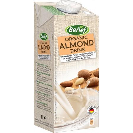 Bio mandľový nápoj nesladený BERIEF 1 l